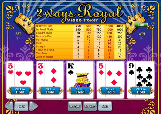 2 Ways Royal Video Poker
