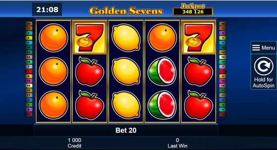 7 Golden Sevens – Progressive Jackpot