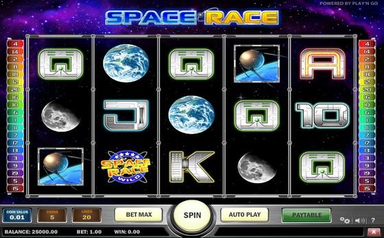 Space Race- Sci-fi Slot