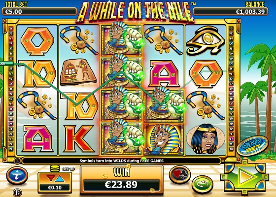A While On The Nile Egyptian Slot
