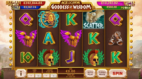 Age of Gods: Goddess of Wisdom – High Stakes Slot