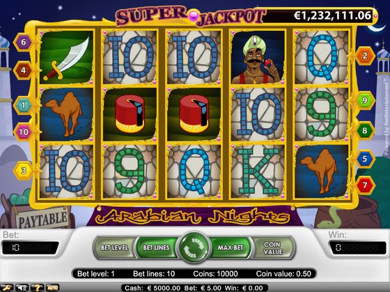 Arabian Nights – Progressive Jackpot