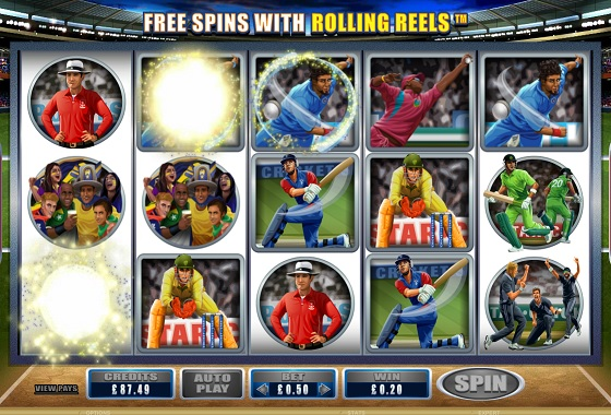 Cricket Star Rolling Reel Slot Game