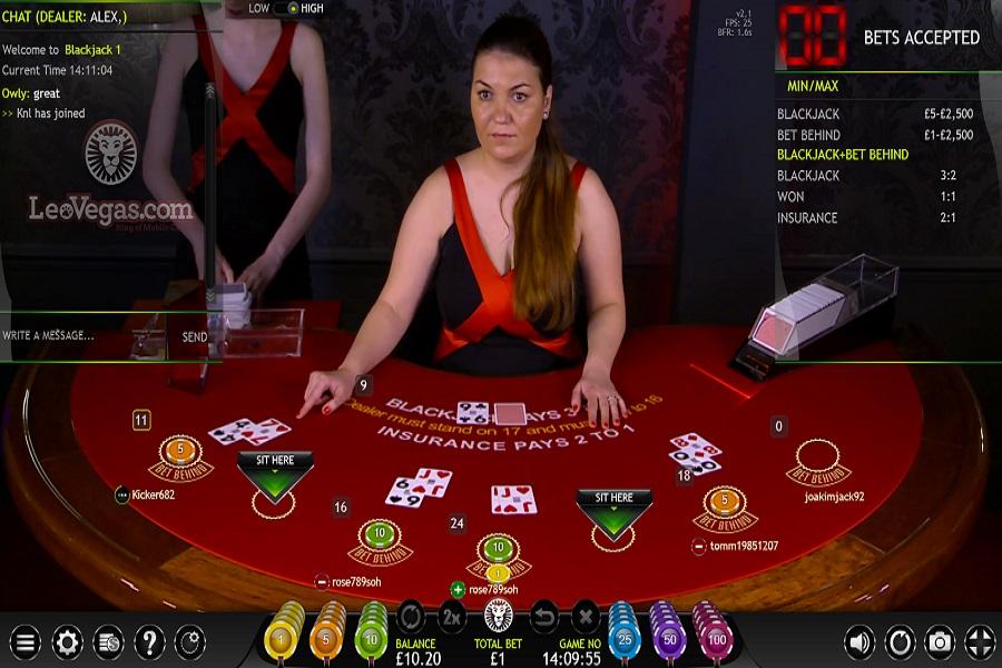 Extreme Live Blackjack Screenshot