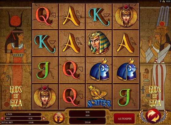 gods of giza casino