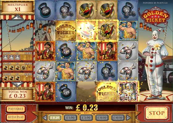Golden Ticket Tumbling Reels Game