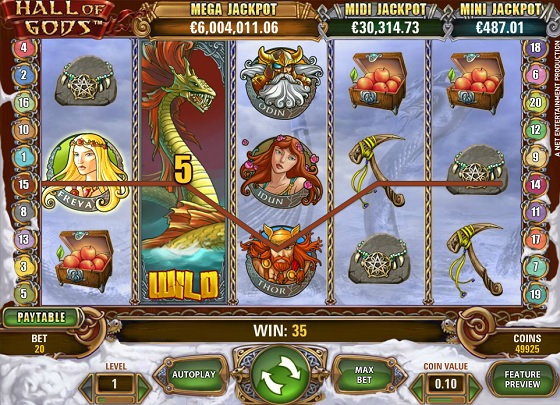 Hall of Gods Progressive Jackpot - Rizk Online Casino