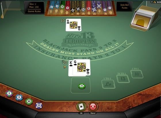 Hi-Lo 13 European Blackjack