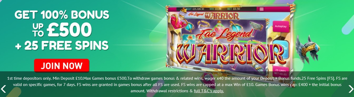 Jackpot Fruity Casino Welcome Bonus