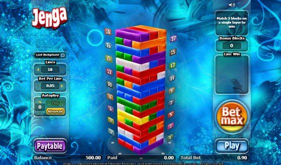 Jenga Video Slot