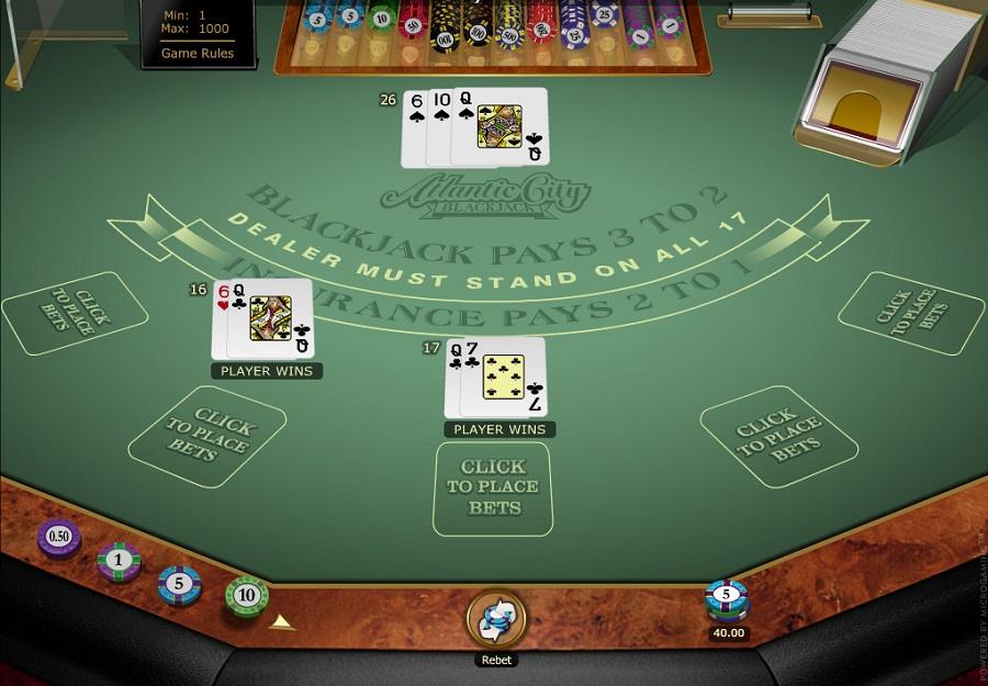 Microgaming Blackjack Screenshot