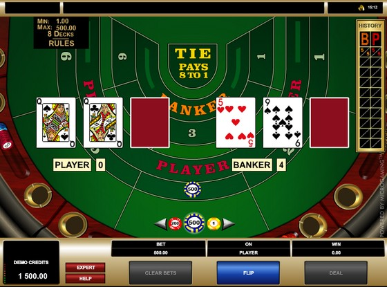 Microgaming High Limit Baccarat