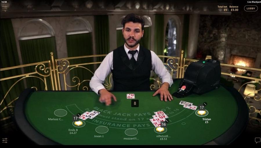 Net Ent Live Blackjack Screenshot
