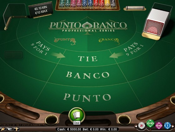 punto banco professional series low casino