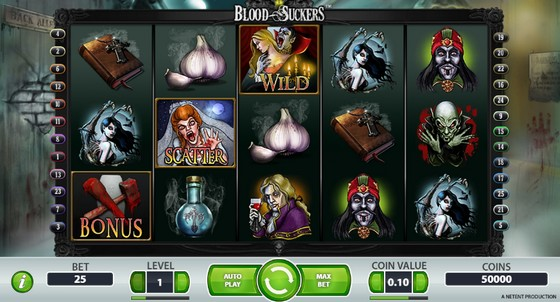 Play Blood Suckers slot online at Casino.com UK
