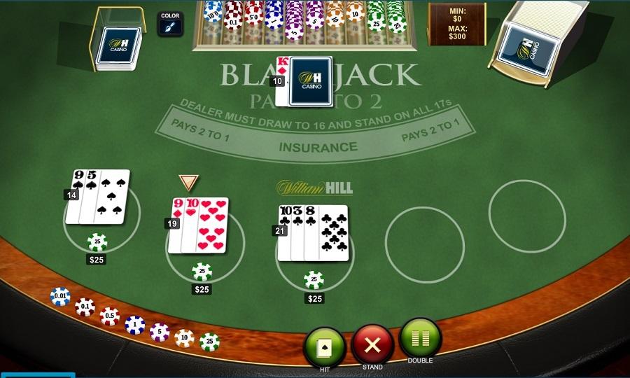 Playtech Blackjack Screenshot