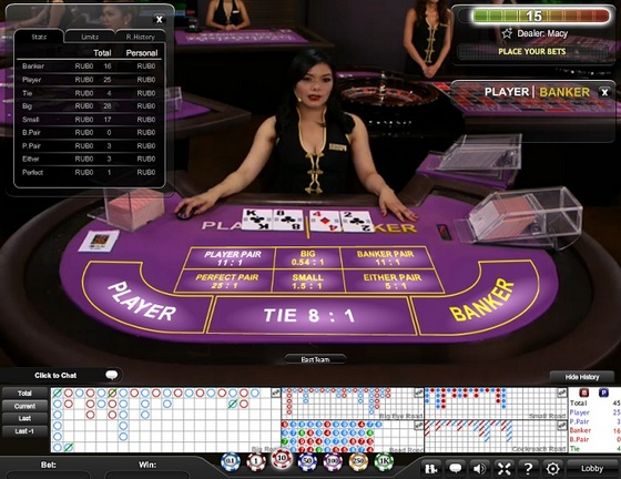 Playtech Live Baccarat Mini