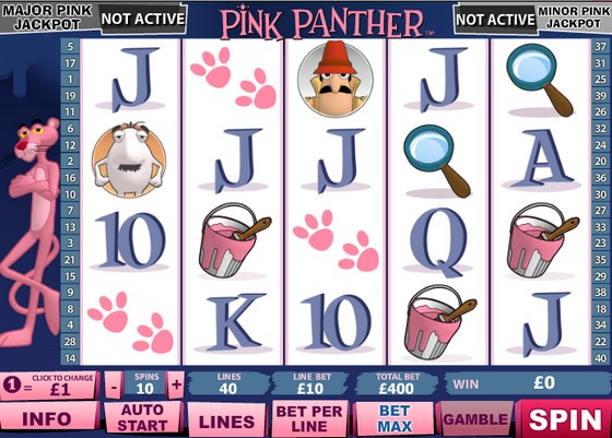 Playtech Slots Pink Panther