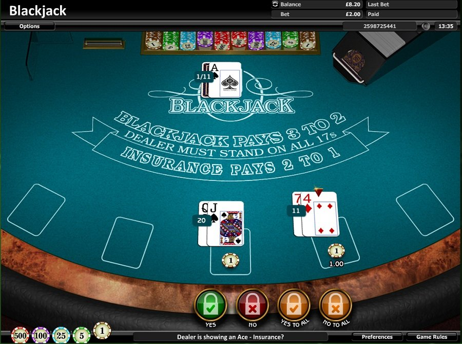 Realistic Blackjack Screenshot