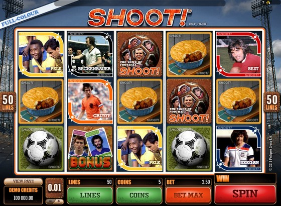 Shoot – Sports Themed Slot