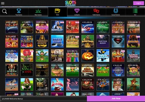Slots Heaven Mobile Site