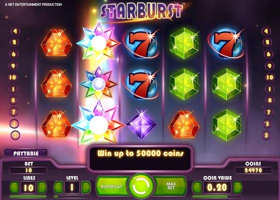 starburst expanding wild