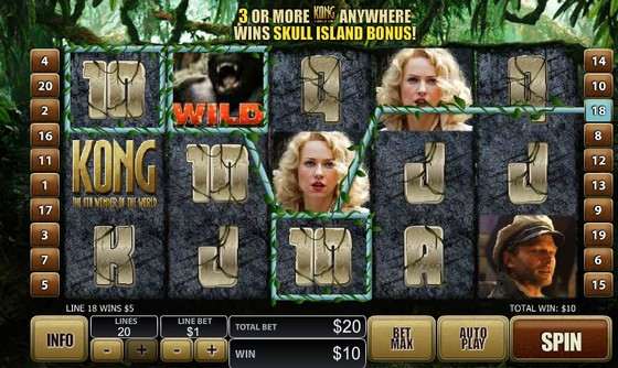 Kong The Eight Wonder of the World Slot