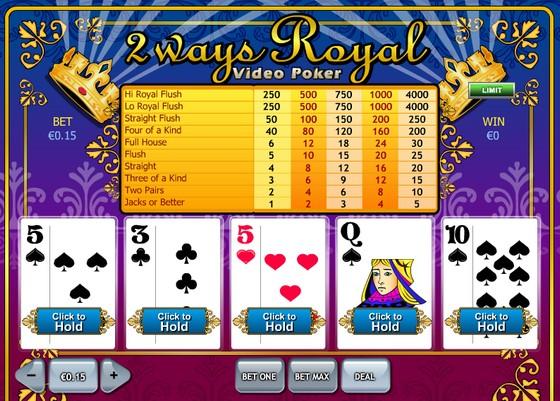 2 Way Royal Video Poker