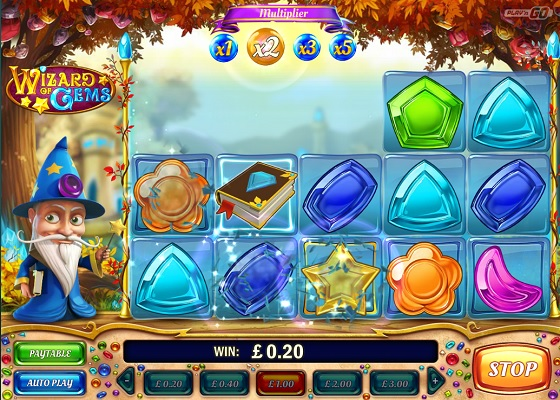 Wizard of Gems Rolling Reels