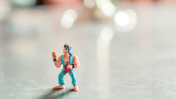 A Plastic Figure to represent Characters Gambling Online