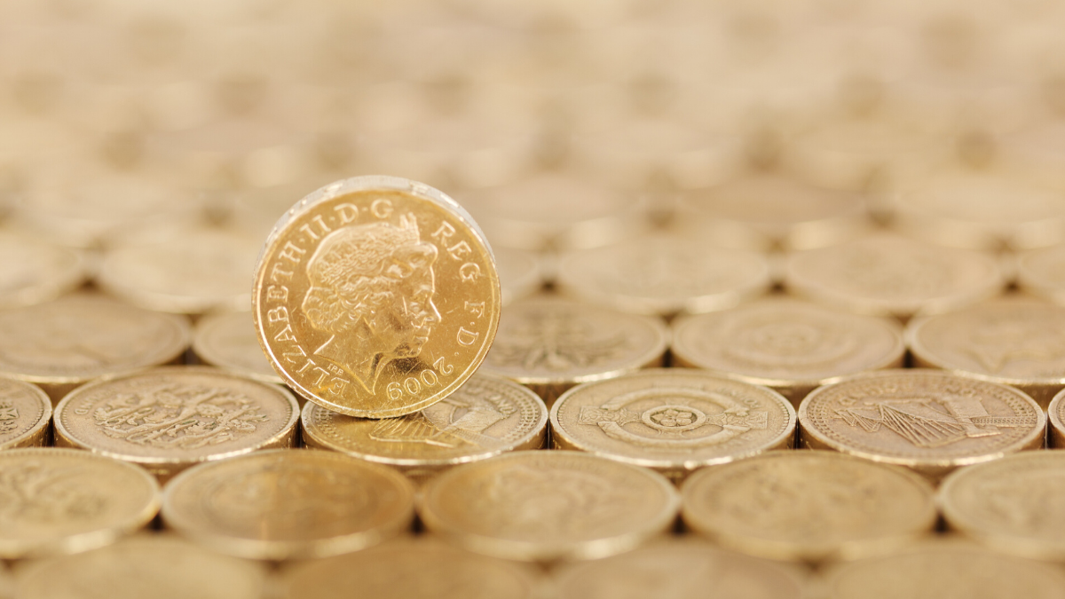 Pound coins to represent the money 888 Holdings have made