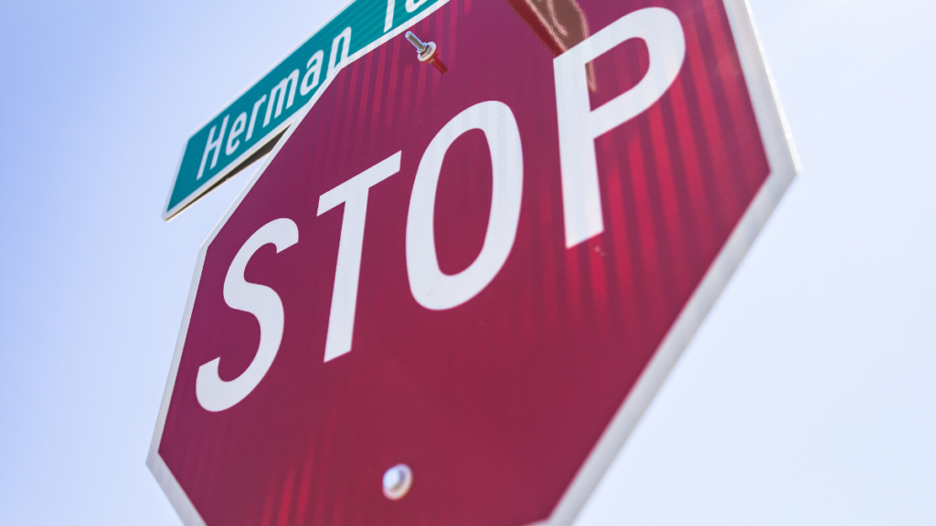 A picture of a stop sign to represent stop gambling