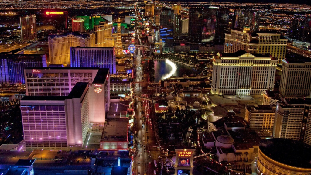 A picture of Las Vegas to represent Gambling Holidays