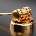 A gavel to represent rules, especially casino rules.