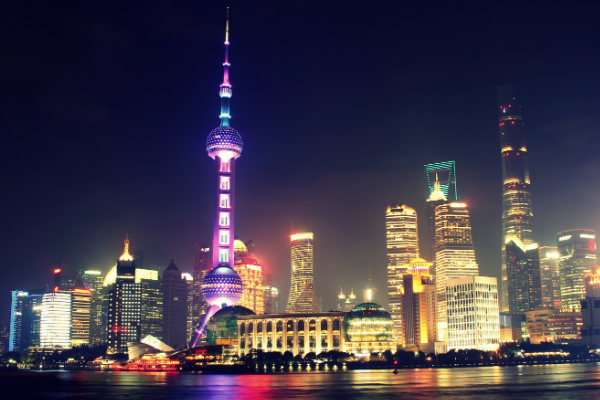 Picture of Chinese city to represent China. It might not be the gambling mecca Macau