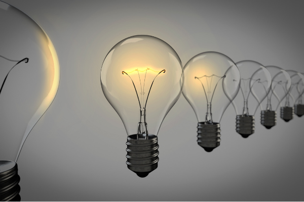 A picture of lightbulbs because lightbulbs appear over a person's head when they're clever (in cartoons, anyway)