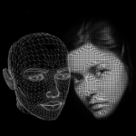 A cool picture in greyscale of a computerised outline of a face (so like what you might imagine an AI face would look like) and in front to the right is a picture of a woman's face which looks like it has computer squiggles on it. I've just used this to represent women in gambling because it has a woman and a computerised face and this is an online gambling site.
