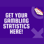 "A picture with our logo that says, ""Get your gambling statistics here!""."