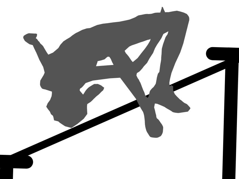 siluet seseorang yang melompat tinggi di atas tiang